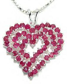 Sterling Silver Genuine Ruby Pendant 1001R